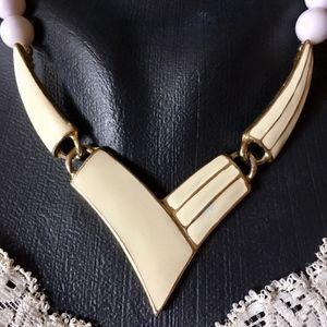 ⭐️ 3 for $15 ⭐️ VTG Statement Necklace Enamel Bib